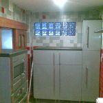 Alicatiado de Cocina en Gris y Rojo 1