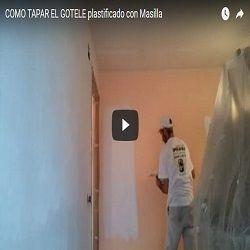 Eliminar o tapar gotele plastificado pintores en madrid - Como tapar el gotele ...