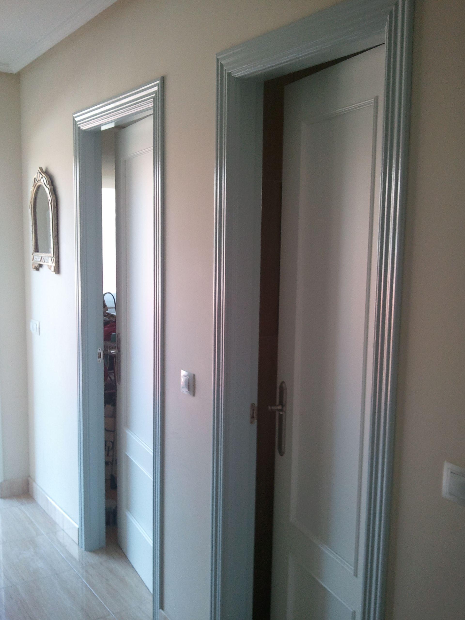 Lacado de puertas en color banco y gris niebla 3 - Pintura para puertas ...