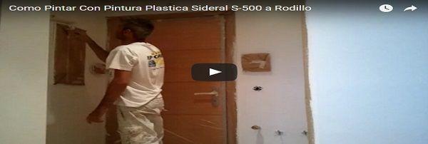 Como pintar techos y paredes con pintura plastica sideral s 500 blanco a rodillo pintores en - Como pintar paredes y techos ...