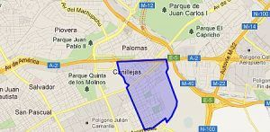 Mapa San Blas - Canillejas