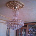 Plafon de escayola oro metalizado en Villaverde