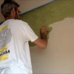 Aplicando tierras florentinas Coral verde oliva