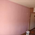 Aplicando Esmalte color Malva en piso de Algete 2