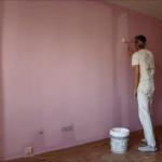 Aplicando Esmalte color Malva en piso de Algete 4