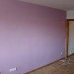 Aplicando Esmalte color Malva en piso de Algete 6