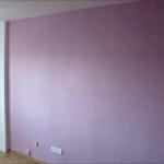 Aplicando Esmalte color Malva en piso de Algete 7