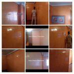 Estuco Mitiko Color Naranja Salon Entrada Coslada - COLLAGE