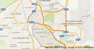 Mapa Pintores en Hortaleza
