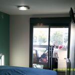 Esmalte Valacryl Gris Claro y Azul Verdoso en piso de San Fernando de Henares 1