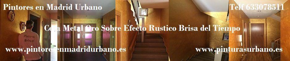 Banner Cera Metal Oro Sobre Rustico