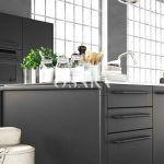 osaka pintura decorativa efecto microcemento colorm esencia gris oscuro negro salon loft cocina salon