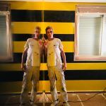 Estuco Veneciano Original a rayas amarillas y negras Borussia Dortmund (70)