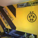 Estuco Veneciano Original a rayas amarillas y negras Borussia Dortmund Decoracion (14)