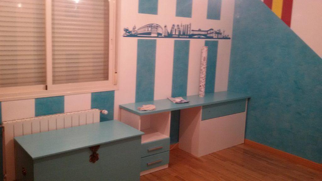 Muebles Lacados en Blanco y Turquesa