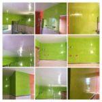 Estuco Veneciano Verde en Paredes de Wc-COLLAGE