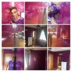 Estuco Veneciano Violeta en Dormitorio 1-COLLAGE