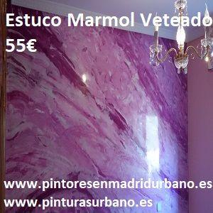 Oferta Estuco Marmol a 3 colores Violeta con cera